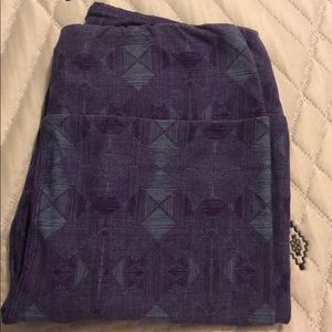 Lularoe OS purple/blue Leggings